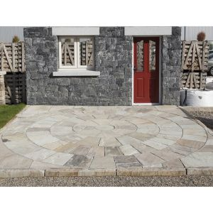 Mint Sandstone Natural Hand-Cut Paving Circle 4m