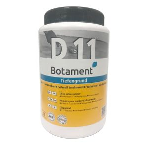 BOTAMENT D 11 is a tile primer to prepare absorbent substrates for the subsequent application of tile adhesives, filler compounds, renders or paints in interior and exterior areas.
