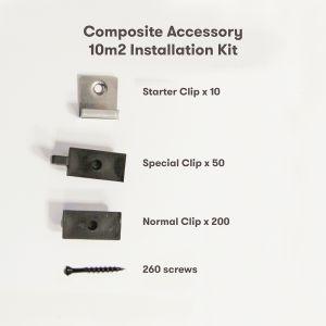 AlphaDeck Composite Decking 10m² Installation Pack