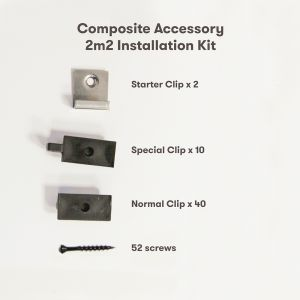 AlphaDeck Composite Decking 2m² Installation Pack