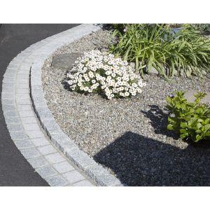 Silver Granite Hand-Cut Tumbled Cobble 20x10cm