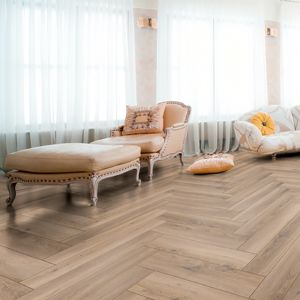 Laminate Flooring - 8mm Herringbone AC4 Metz Oak ER WG 66.5x13cm