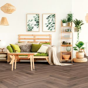 Laminate Flooring - 8mm Herringbone AC4 Ferrara Oak ER WG 66.5x13cm