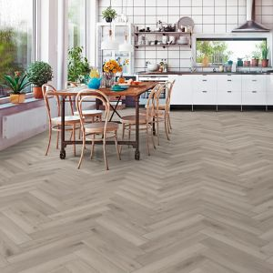 Laminate Flooring - 8mm Herringbone AC4 Silver Oak ER WG 66.5x13cm