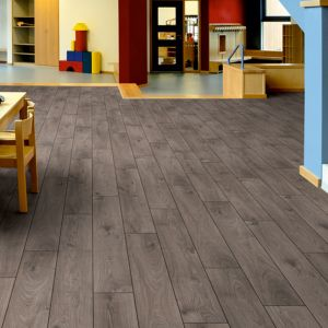 Laminate Flooring - 12mm Robusto 4V AC5 Atlas Oak Anthracite (EIR) 138x19cm