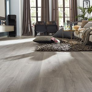 Laminate Flooring - 10mm Mammut Plus AC5 Macro Oak Light Grey (EIR) 185x24mm