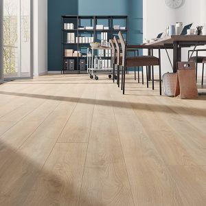 Laminate Flooring - 10mm Mammut Plus AC5 Macro Oak Beige 185x24cm