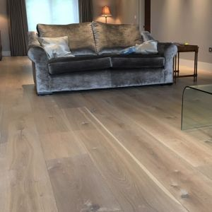 Engineered Wood - Renaissance Oak Messina Distressed Smoked Oiled Waxed 195x26cm