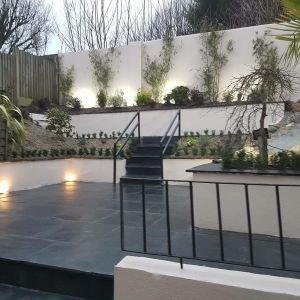 Black Limestone Hand-Cut Natural Paving 60x60cm