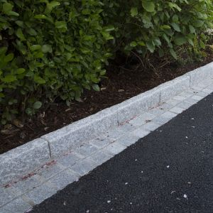 Silver Granite Hand-Cut Bush-Hammered Kerb 100x20cm