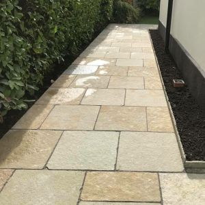 Kota Yellow Limestone Hand-Cut Calibrated Natural Paving 60x60cm