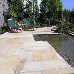 Mint Sandstone Calibrated Hand-Cut Paving 60x30cm