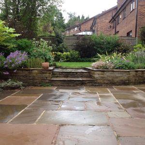 Raj Green Sandstone Hand-Cut Calibrated Paving 90x60cm