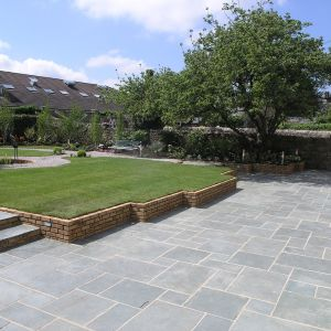 Kota Green Limestone Hand-Cut Natural Paving 90x60cm