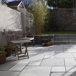 Kota Grey Limestone Hand-Cut Calibrated Paving Patio Pack B