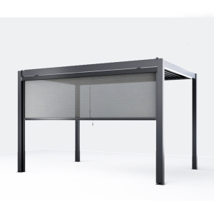 Pergolux Modern Pergola Side Screen Grey Side C 3x2.4m is a modern and budget friendly aluminium pergola. Pergolux is an easy to assemble and simple to adjust pergola that is the perfect remedy to our infamous Irish climate.