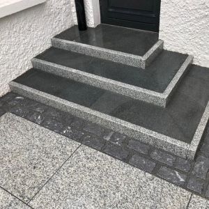 This granite kerb is available in Ireland and it is cut for a modern look that brings a sharp finish to a patio or driveway.