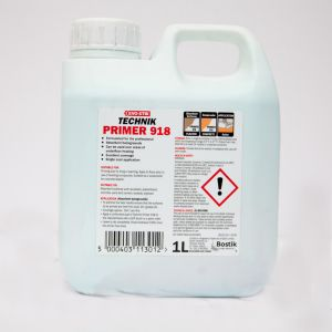 Evo-Stik Technik Primer 918 1L. The function of a primer is to prepare the surface for tiling and increase the bond of the adhesive, screed and waterproofing compounds onto the surface.