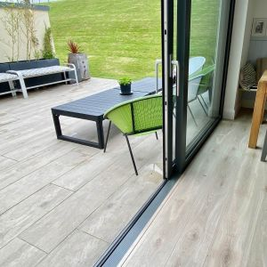 Wood Effect Porcelain Tiles Installed Outdoor, Garden in Ireland