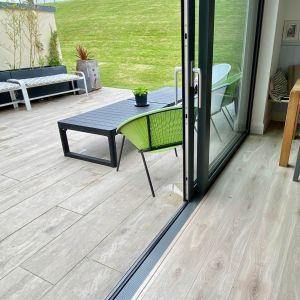 Wood Effect Porcelain Tiles Installed Outdoor, Garden in Ireland